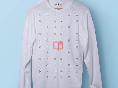 Drive Podcast Long Sleeve branding logo illustration t-shirt tee shirt