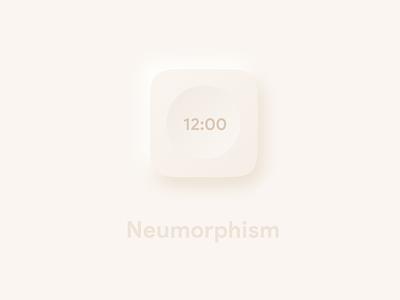 Neumophism clock