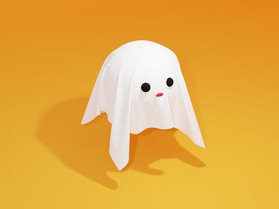 Day1 Ghost characterdesign 100daysof3dcg blender 3dcg