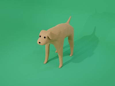Day4 - Dog illustration cg painting cg artist 3dcg 100daysofcg blender 3d blender3d