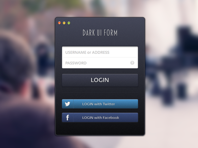 DARK UI FORM(.sketch) form
