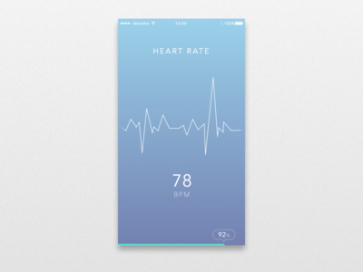 UI for heart rate monitor