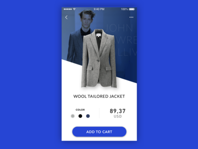 Daily UI #00α — Shopping app