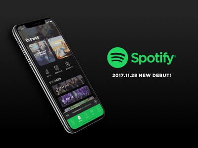 Spotify redesign concept app iphonex spotify ui