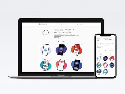 New Portfolio on Instagram works grid flat design instagram ui site web portfolio