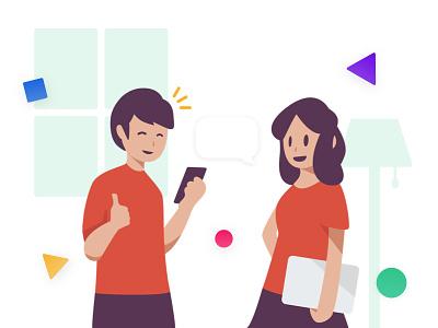 Talking illustration