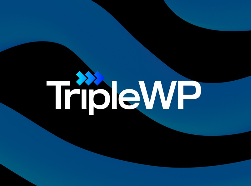 TripleWP logo gradient logo logotype logodesign branding illustration photoshop blue black speed wordpress gradient logo 30 day logo challenge