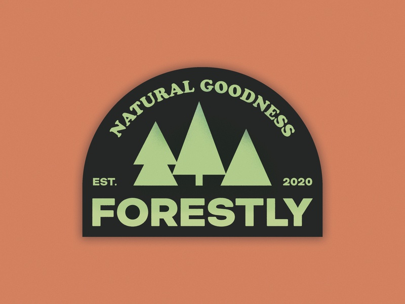Forestly logo concept vector brand design typogaphy logotype nature enviroment eco green orange forest photoshop branding design tree logo branding