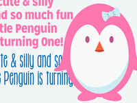 Penguin Birthday Invite WIP