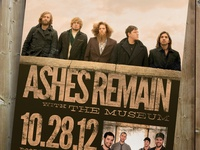 Ashes Remain Concert Poster