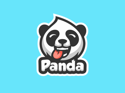 head panda vector logo