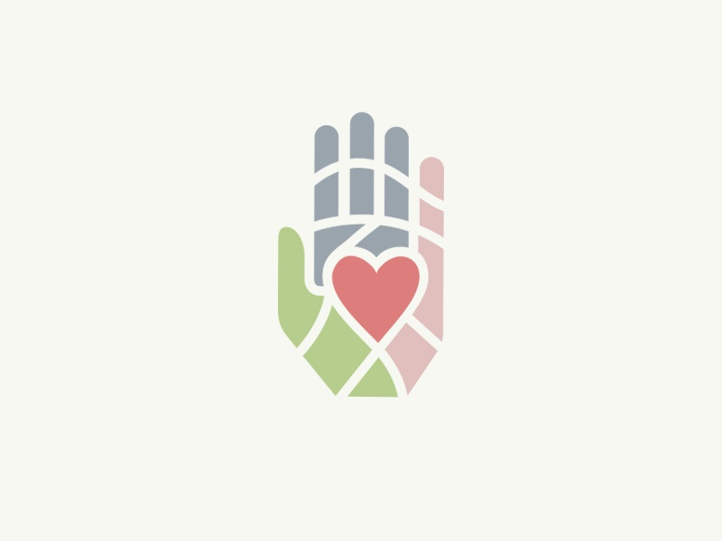 City Square Logo logo identity nonprofit charity colorful dallas texas city heart hand
