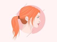 Female Profile Illustration