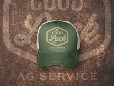 Good Luck AG Service Cap art direction graphic design service branding logo design agriculture farming