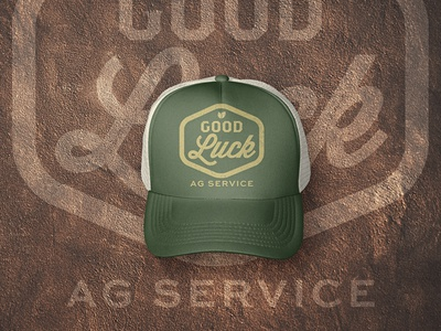 Good Luck AG Service Cap art direction graphic design service branding logo design agriculture farming