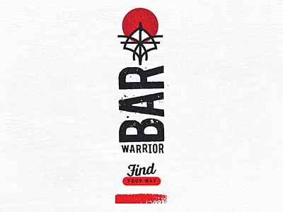 Warrior Bar Samurai Logo product design tag line development concept art direction logo design