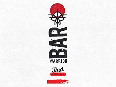 Warrior Bar Samurai Logo product design tag line development concept art direction logo design