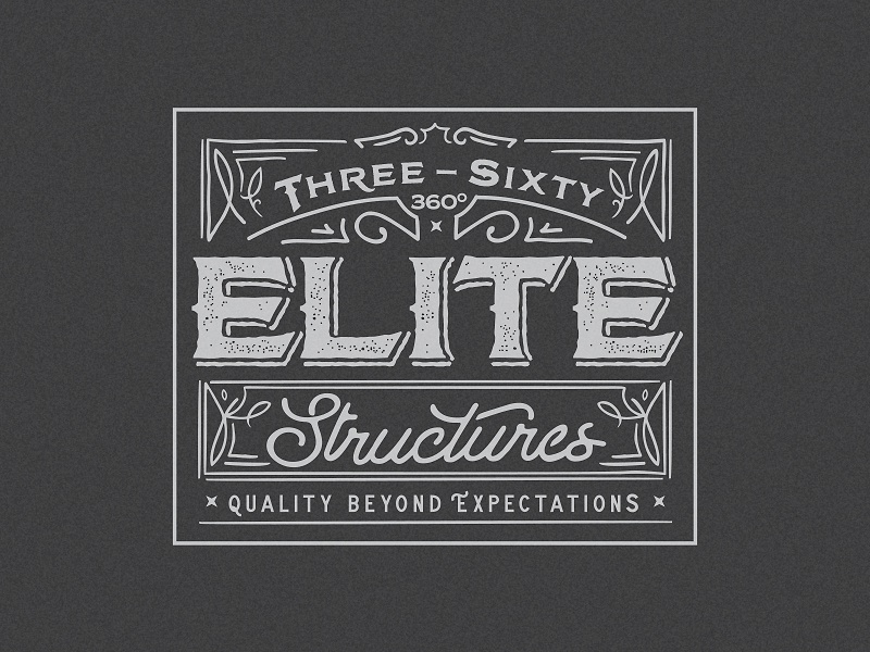 Three Sixty Elite Structures Logo mark concept custom identity branding logo