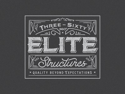 Three Sixty Elite Structures Logo mark concept custom identity branding logo