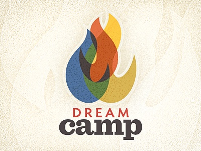 dream camp logotype concept childrens camp