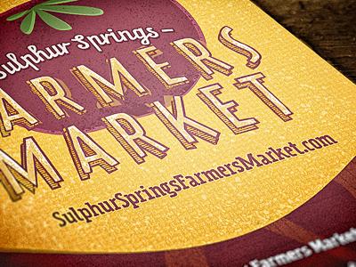 Local Farmers Market Promo print flier announcement textures graphic design