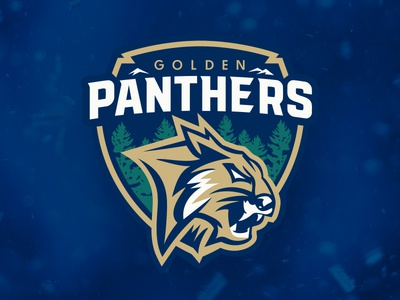 Golden Panthers vancouver youth hockey sports panther vector illustration