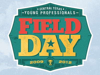 Field Day Event logo illustration design central texas field day