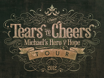 From Tears to Cheers  type textures ornaments