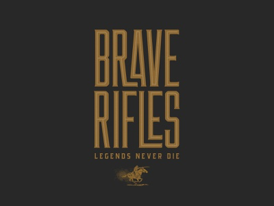 Brave Rifles typography design illustration concept