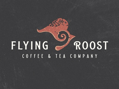 FLYING ROOST logo design north dakota illustration typography vector branding art direction concept