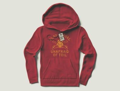 """Just Loyal Unafraid of Toil "" Hoodie and Tag design"