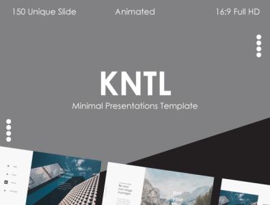 KNTL MNML - Presentation Template powerpoint template powerpoint presentation powerpoint portfolio popular modern mnml minimalist minimal marketing light dark creative corporate clean chart business blue animation