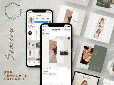 Senoru media social pack post + stories instagrampack