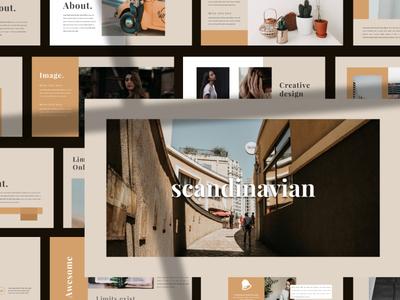 Scandinavian - Brand Powerpoint  Template powerpoint modern minimalist chart portfolio minimal clean marketing creative business