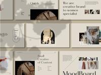 Querk Brand - Powerpoint smallbiz startup branding startup layout hot offer hot portfolio presentation template portfolio brand guidelines branding agency branding marketing business presentation design presentations