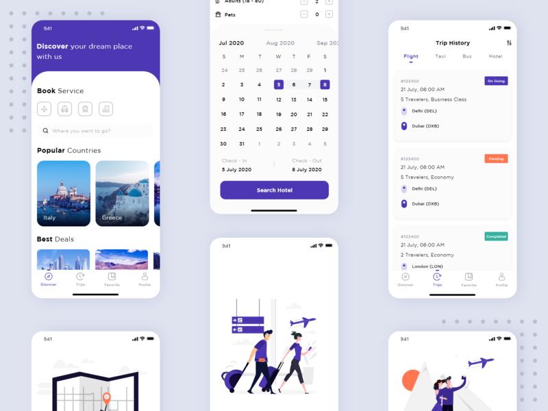 Visitrip Travel App graphicdesign design application icon design iconography icon set illustrator uidesign uiux ui appui travel app travel