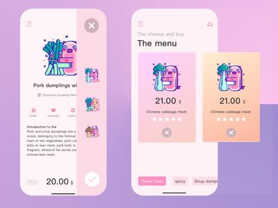 food ordering dumplings app food