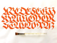 Brush Fraktur Majuscule