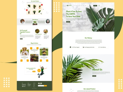 Plant Box - Landing Page Design For Plant Lover adobexd tree responsive uidesign