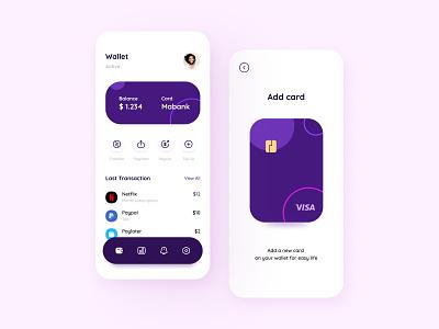 Mabank - Wallet app ios ui kit mobile app mobile financial finance ui kit graphic design creative concept wallet app wallet ui design