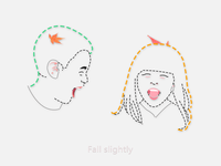 Fall slightly