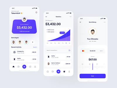 Payoo 🤑 - Mobile App finance mobile app clean banking app financial ux ui finance app bank app financial app wallet wallet app