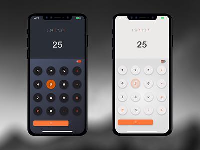 Calculator - Daily UI #004 calculator app calculator ui calculator iphone11 app web design ux uidesign ui sketch dailyuichallenge dailyui