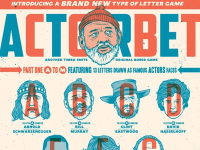 ACTORBET type illustration.timba actor alphabet letters