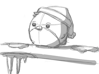 Robin Sketch robin christmas