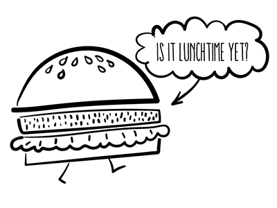 Burger illustration illustrator burger montone