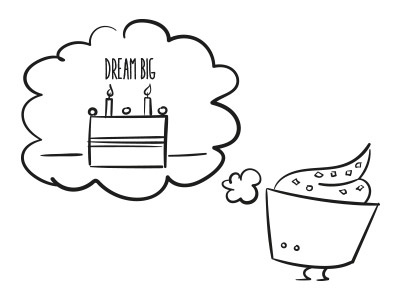 One day I'll be a cake cupcake cake illustration