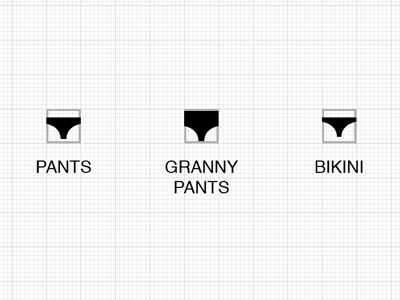 Icons pants underwear icon silhouette
