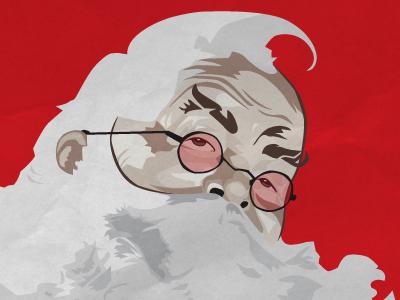 Natural Born Santa christmas santa tangent snowball tarantino