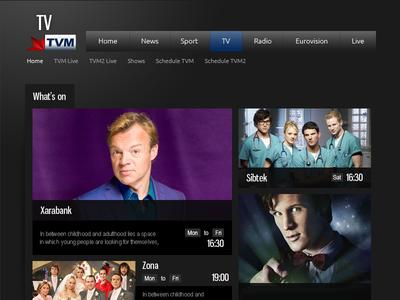Website design development for Malta's National TV Station
